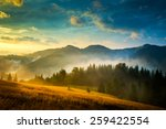 amazing mountain landscape with ... | Shutterstock . vector #259422554