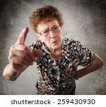 Scolded The Old Woman. Senior...