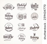 bakery retro labels | Shutterstock .eps vector #259434770