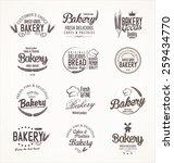 bakery retro labels   Shutterstock .eps vector #259434770