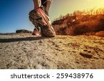 trail running shoes at the... | Shutterstock . vector #259438976