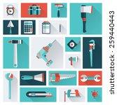 repair tools | Shutterstock .eps vector #259440443