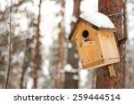 The Birdhouse With A Snow On...