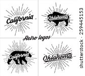 collection of vector retro t... | Shutterstock .eps vector #259445153