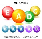 button with vitamins. set.... | Shutterstock .eps vector #259457369
