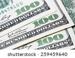 Macro shot of a 100 dollar bill - stock photo