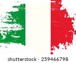 scratched italian flag. an... | Shutterstock .eps vector #259466798