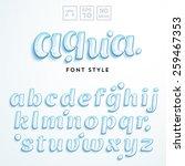 vector latin alphabet made of... | Shutterstock .eps vector #259467353