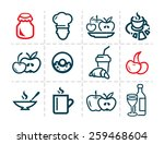 line icon of food and drink ...   Shutterstock .eps vector #259468604
