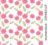 simple flower doodle seamless... | Shutterstock . vector #259482119
