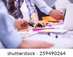 young business people working... | Shutterstock . vector #259490264
