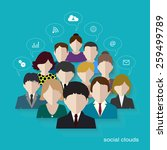 social networks communication... | Shutterstock .eps vector #259499789