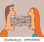 cartoon illustration of couple... | Shutterstock .eps vector #259500446