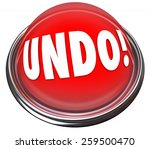 undo word on a red button to... | Shutterstock . vector #259500470