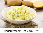 mashed potatoes with chives... | Shutterstock . vector #259502279
