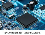 electronic circuit board with... | Shutterstock . vector #259506596
