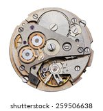 clock mechanism with gears ... | Shutterstock . vector #259506638