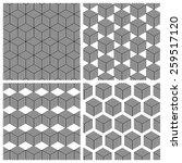 geometric vector pattern pack | Shutterstock .eps vector #259517120