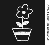 flower doodle drawing | Shutterstock . vector #259517630