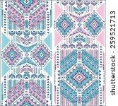 tribal vintage ethnic seamless... | Shutterstock .eps vector #259521713