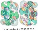 delicate   unique  colorful  ...   Shutterstock . vector #259522616