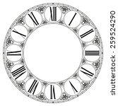 vector clock | Shutterstock .eps vector #259524290