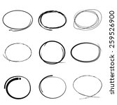 hand draw circles set | Shutterstock .eps vector #259526900