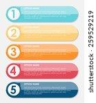 infographic design elements for ... | Shutterstock .eps vector #259529219