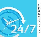 around the clock  24 hours  7... | Shutterstock .eps vector #259547120