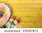 mexico background  sombrero ... | Shutterstock . vector #259547873