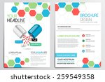 medical brochure design... | Shutterstock .eps vector #259549358