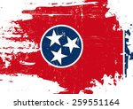scratched tennessee flag. a... | Shutterstock .eps vector #259551164