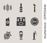 beer vector icons set bottle ... | Shutterstock .eps vector #259552646