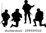 silhouette of soldier mission... | Shutterstock .eps vector #259559510