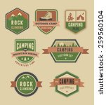 hiking and camp badges   set of ... | Shutterstock .eps vector #259560104