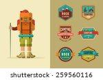 Hiking  Camp Badges   Set Of...