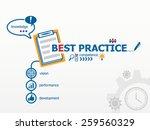 best practice concept and...   Shutterstock .eps vector #259560329