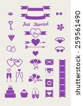 vector simple icon for wedding... | Shutterstock .eps vector #259561490