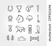 horse equipment icon set line | Shutterstock .eps vector #259561646