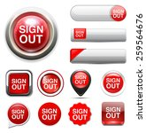 sign out button | Shutterstock . vector #259564676