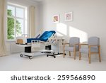 empty single hospital room with ... | Shutterstock . vector #259566890