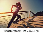 healthy lifestyle sports woman... | Shutterstock . vector #259568678