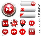 fast forward button. | Shutterstock . vector #259578860