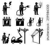 electrician icons.vector | Shutterstock .eps vector #259586330