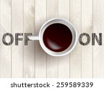 cup of coffee concept | Shutterstock .eps vector #259589339