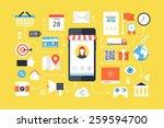 mobile marketing   e marketing  ... | Shutterstock .eps vector #259594700