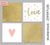 Collection Of 4 Card Templates...