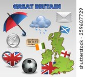 great britain set 5 | Shutterstock .eps vector #259607729