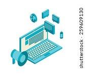isometric design modern vector... | Shutterstock .eps vector #259609130