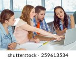 fashion students looking at... | Shutterstock . vector #259613534